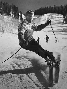 Stein Eriksen, legendary Norwegian skiier.