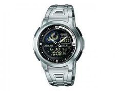Relógio Masculino Casio Mundial AQF-102W Anadigi - com Horário Mundial Resistente à Água