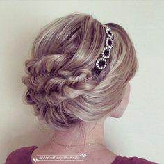 Headband updo + Fishtail braids