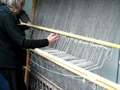 Viking Warp-weighted Loom Demo 2 - YouTube