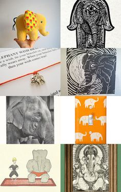 Even More Elephants by Cynthia Sillitoe on Etsy--Pinned with TreasuryPin.com