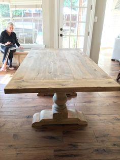 Examples of Tables Finished in Salvaged Natural - Dekoration Welt Decor, Rustic Table, Dining, Dining Table, Table, Dining Room Table, Wood Sample, Dinning Room Tables, Farmhouse Table