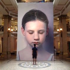 Painting by Gottfried Helnwein