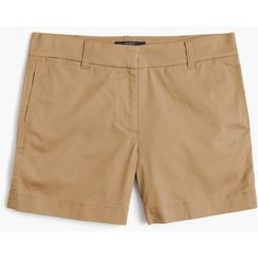 """J.Crew 5"""" Stretch Chino Short ($60) ❤ liked on Polyvore featuring shorts, stretch shorts, stretchy shorts, short chino shorts, short shorts and chino shorts"""