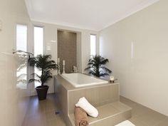 Modern bathroom design with floor-to-ceiling windows using ceramic - Bathroom Photo 161311
