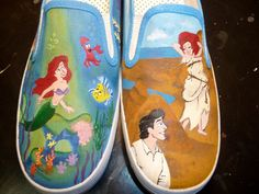 Custom Hand Painted Shoes - Little Mermaid