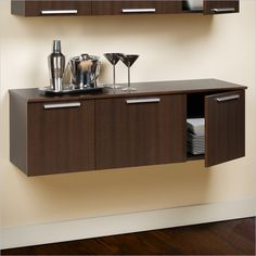 Prepac Coal Harbor Wall Mounted Buffet in Espresso - ECBW-0203-1 - Lowest price online on all Prepac Coal Harbor Wall Mounted Buffet in Espresso - ECBW-0203-1