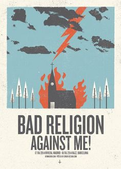 Bad Religion gig poster by Error Design