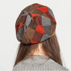 4a179011bce94 2015 fashion plaid beret hat for women wool winter hats