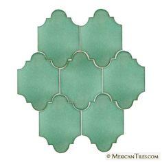 Mexican Tile - Light Green Riad Terra Nova Mediterraneo Ceramic Tile bathroom like this would match my room so well