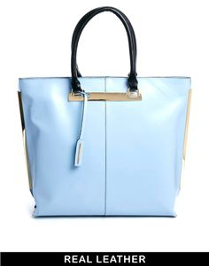 River Island Light Blue Metal Shopper Bag