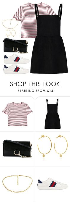 """Untitled #4152"" by magsmccray ❤ liked on Polyvore featuring Chloé, Yvonne Léon and Gucci"
