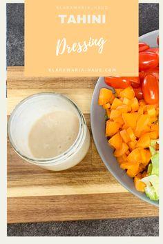 Tahini Dressing Tahini Dressing, Vegan Gluten Free, Vegan Vegetarian, Dressings, Vegetable Dips, Protein, Buddha Bowl, Vegan Dishes, Nutrition