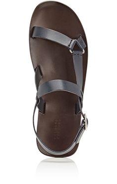 465de803 Barneys New York Slingback-Strap Sandals - 8 M Navy Sandals Outfit, Male  Sandals