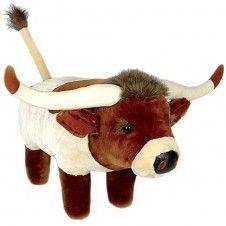 Plush Long Horn Footstool