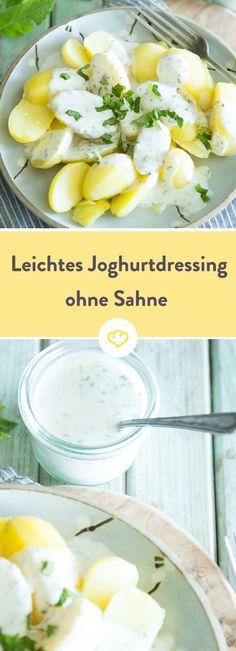 Leichtes Joghurtdressing mit frischer Minze