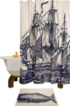 Ship Shower Curtain.....LOVE