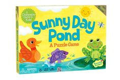 Sunny Day Pond - A cooperative game for ages 3+ where players work together to build the animal puzzles before it starts to rain in the pond! This game is featured in all of our stores this week. Stop by and play a demo!