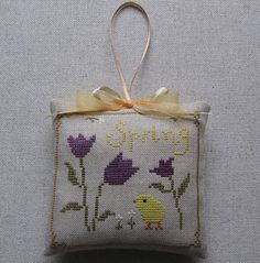 Stitcher: Emese (Hungary)  Design: The Snowflower Diaries: Tulips With Chick (2013)