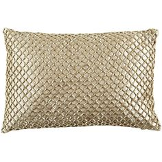 This glamorous design is the gold standard of pillows. Instantly increase the value of your home by adding this gorgeous metallic beaded number. You'll definite...