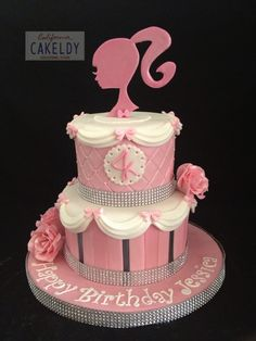 37 ideas of best birthday cake Barbie 2019 Barbie Birthday Cake, Barbie Theme Party, Birthday Cake Girls, 5th Birthday, Birthday Cakes, Birthday Ideas, Bolo Barbie, Barbie Cake, Pink Barbie
