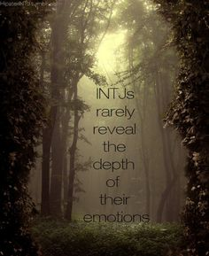 INTJ Depth:complexity or abstruseness; the deepest, most intense, or most severe part, they hide.