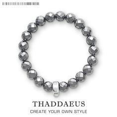 [Visit to Buy] Haematite Bead Bracelet,Thomas Style Charm Fashion Good Jewerly For Women,2017 Ts Club Gift In 925 Sterling Silver,Super Deals #Advertisement