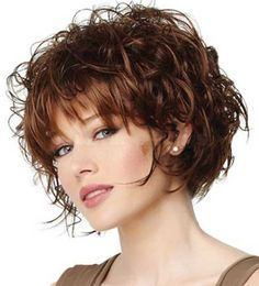 Curly Layered Short Hair