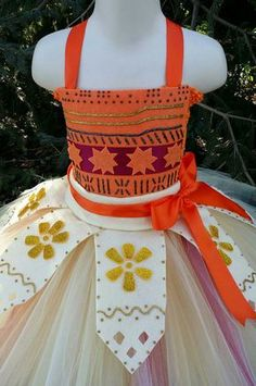 Moana artesanal inspirado Vestido de Tutu por TutuOclockSomewhere