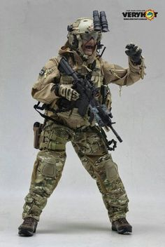onesixthscalepictures: Very Hot Combat Control Team (CCT) : Latest product news for scale figures inch collectibles) from Sideshows . Small Soldiers, Toy Soldiers, Military Gear, Military Weapons, Airsoft, Military Action Figures, Tactical Gear, Law Enforcement, Armed Forces