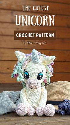 Find detailed and easy to follow instructions of this beautiful unicorn toy. Start making your crochet toy today! Amigurumi pattern is easy to follow with many detailed pictures to help you on the way. A beautiful idea for a crochet gift. You will have a beautiful amigurumi unicorn toy! Crochet Patterns For Beginners, Crochet Toys Patterns, Amigurumi Patterns, Crochet Designs, Unicorn Doll, Cute Unicorn, Beautiful Unicorn, Crochet Monsters, Crochet Animal Amigurumi