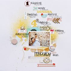 {and scrapbooking classes with cupcakes.}: Five ways to Use Mists on a Scrapbook Layout By Corrie Jones Love Scrapbook, Scrapbook Page Layouts, Scrapbook Paper Crafts, Scrapbook Cards, Scrapbooking Ideas, Digital Scrapbooking, Layout Inspiration, Scrapbooks, Sewing Crafts