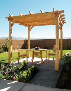 How to Build a Pergola Right in Your Backyard  #DIYwoodworkingprojects #woodworking http://cnc.gallery/
