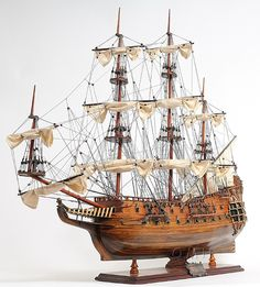 "HMS Fairfax British Royal Navy frigate 34"" Ship Model Museum Quality Authentic - Wooden"