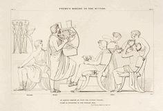 """Femio libro I(411-414) """"e il vate quel difficil ritorno, che da Troia Pallade ai Greci destinò crucciata, della cetra d'argento al suon cantava."""""""