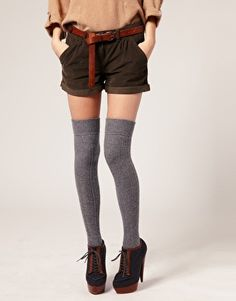 more wool overknee socks...