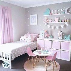 Bon White Shelving Unit With Pink Clothe Totes. Hang On Wall To Create Space 🚀  Put Shelf On Wall On The Side Of Bed For Pictures And Decor And Hang Spice  Racks ...