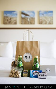 Wedding Gifts For Guests Destination Wedding Welcome Gift Bag for Guests. But with Lacroix, natch. Wedding Guest Bags, Wedding Gifts For Guests, Unique Wedding Gifts, Beach Wedding Favors, Unique Wedding Favors, Wedding Week, Trendy Wedding, Fall Wedding, Diy Wedding