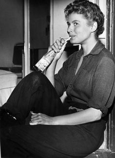 Ingrid Bergman, born 29 August 1915, seen here on the set of For Whom The Bell Tolls, 1943