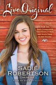 """""""Duck Dynasty"""" star Sadie Robertson's new book is Nicole's pick for this month's PI Book Club! #duckdynasty #sadierobertson"""
