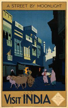"Vintage Travel Poster: ""Visit India"""