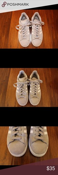 Adidas Campus Gray Men's 5.5 Women's 7 Shoes Cute, good condition. The suede doesn't look as crisp as a brand new pair of shoes but is clean. adidas Shoes Athletic Shoes