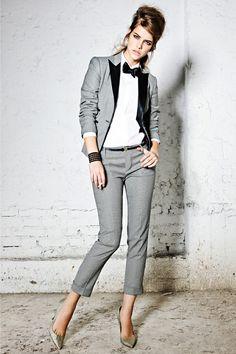 women in menswear Suit