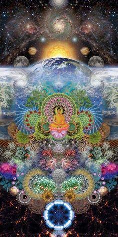 Beautiful Buddha and chakra art design Buddha Kunst, Buddha Art, Kunst Inspo, Art Inspo, Fantasy Kunst, Fantasy Art, Buda Wallpaper, Mandala Nature, Psychadelic Art
