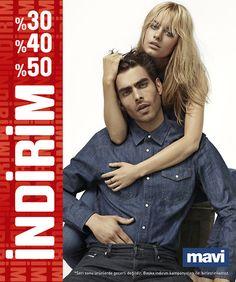 Büyük İndirim Başladı!  Mavi Jeans 2012 - 2013 Sonbahar Kış Koleksiyonu'nda %30 - %40 ve %50 indirimler sizleri bekliyor