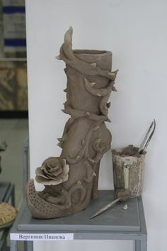 Unfinished clay shoe by verulka.deviantart.com