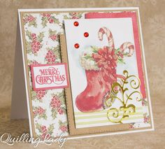 It's always pleasure to work with beautiful images and create cards with them. This time I focused on candy canes and Christmas stockings :...