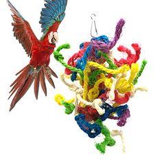 Bird Supplies Corn Leaf Wooden Steel Hanging Toys Parrots Bird Squirrel Funny Chain Toy Bird Bites Climb Chew Toys For Drop Ship Superior Materials Home & Garden