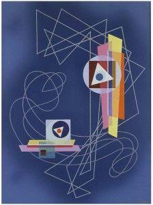 "Emil Bisttram, Duality 8, n.d., oil on canvas,44-1/4 x 33"", Michael Rosenfeld Gallery, New York."