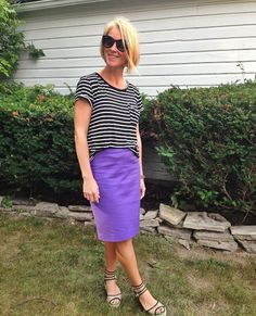 Tee and pencil skirt